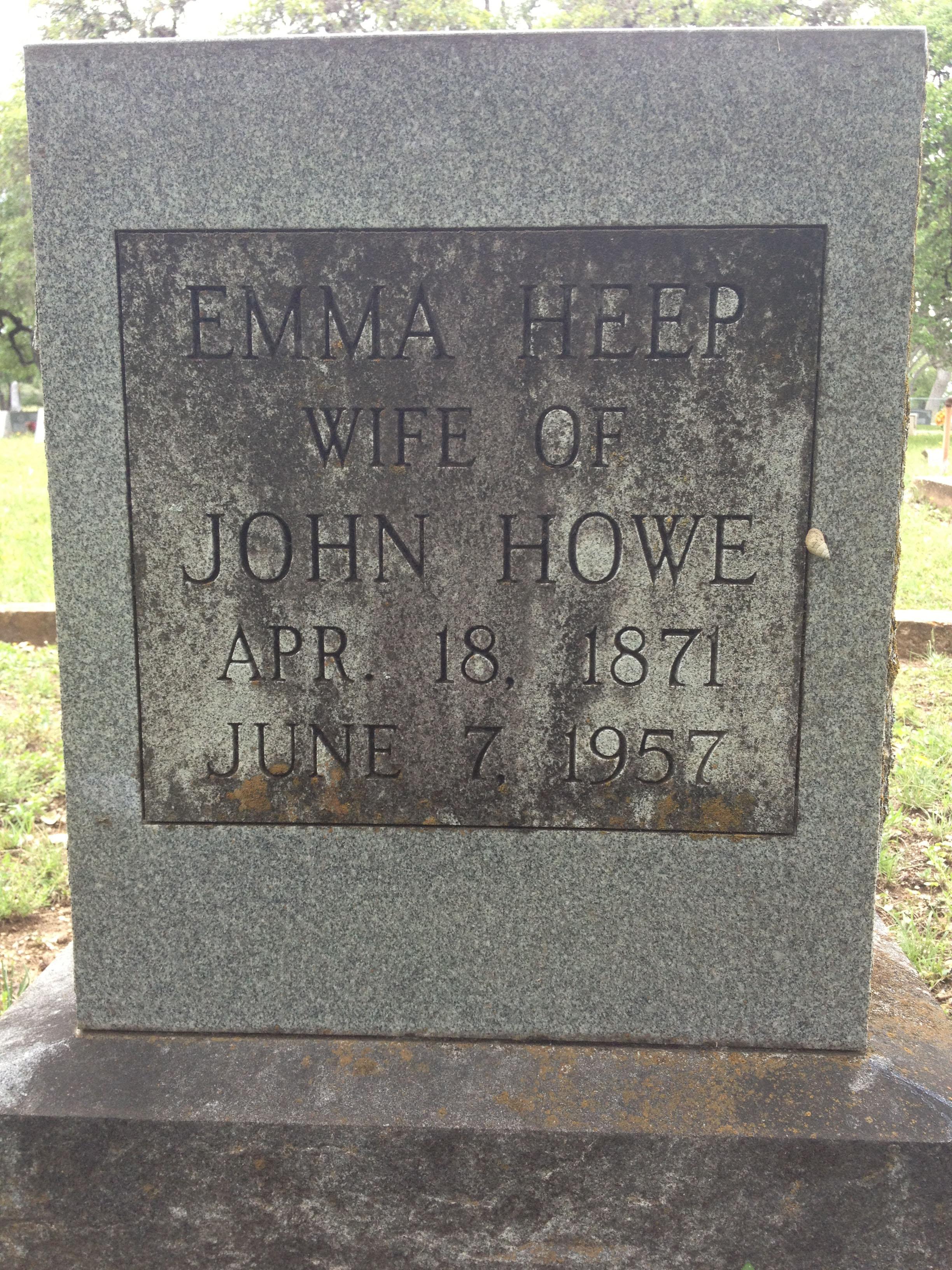 Emma Martha <i>Heep</i> Howe