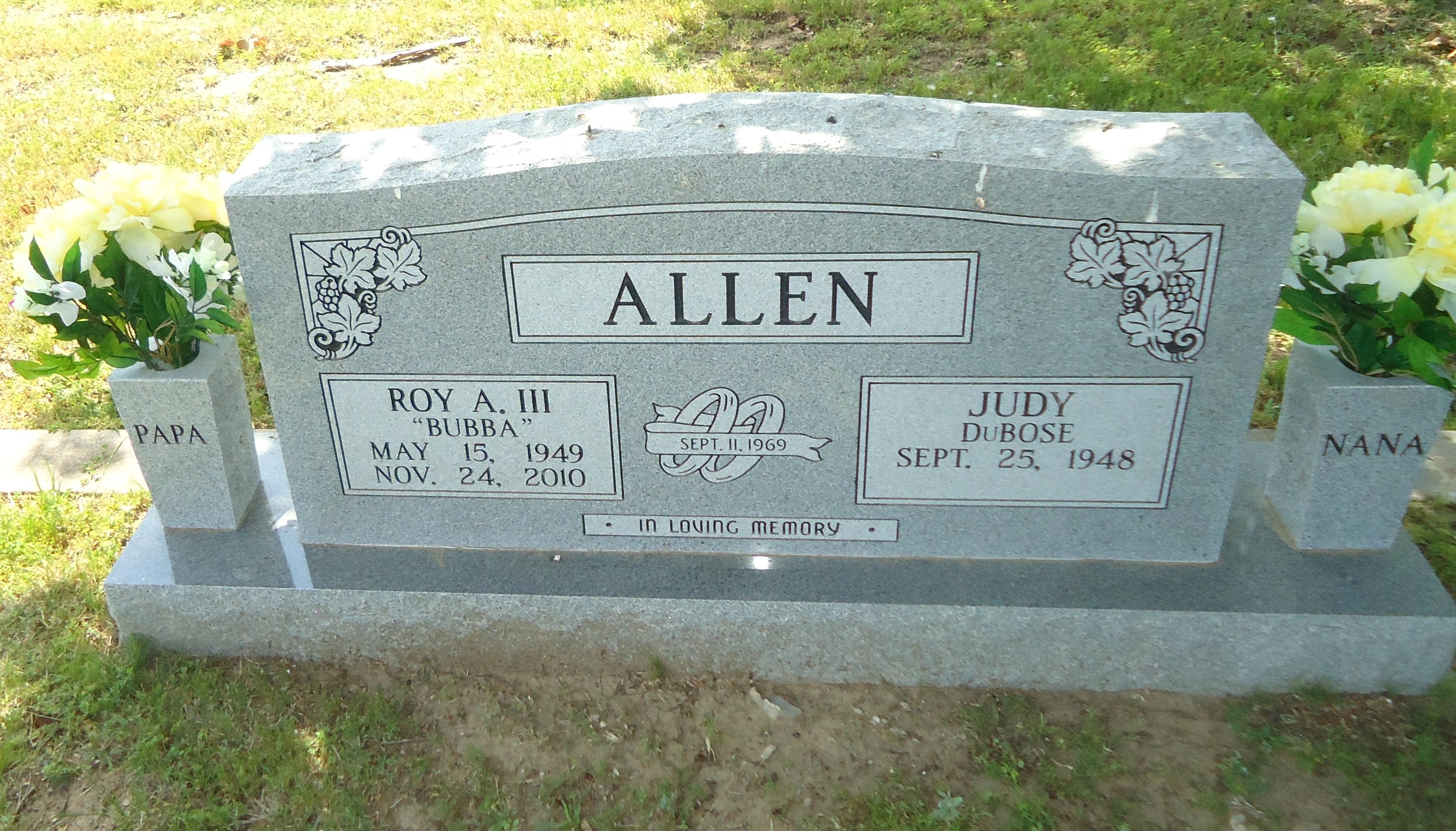 Roy A Bubba Allen, III