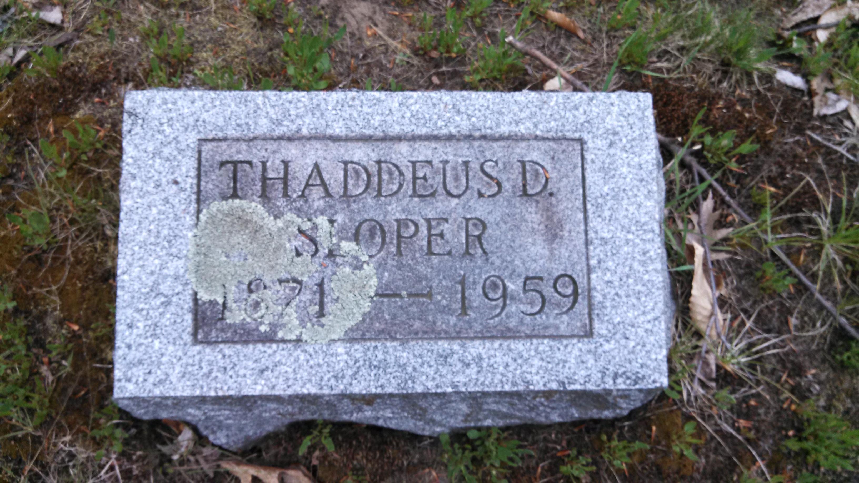 Thaddeus D. Sloper