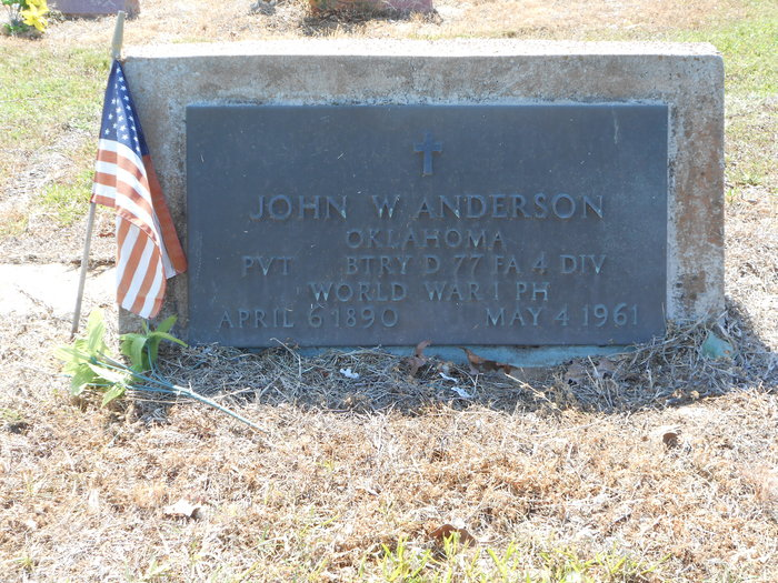 Pvt John William Anderson