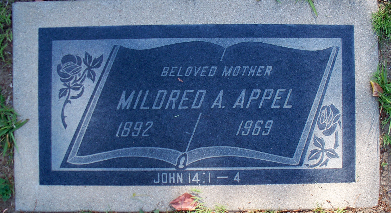 Mildred Alice <i>Handley</i> Appel