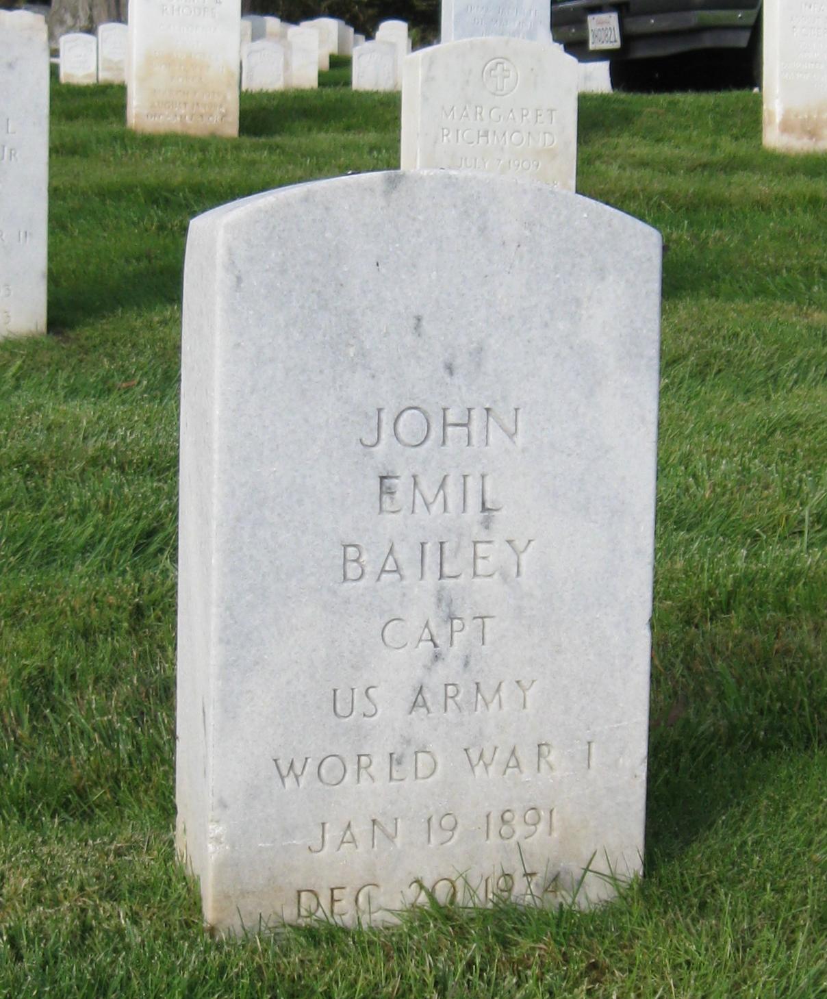 Capt John Emil Bailey