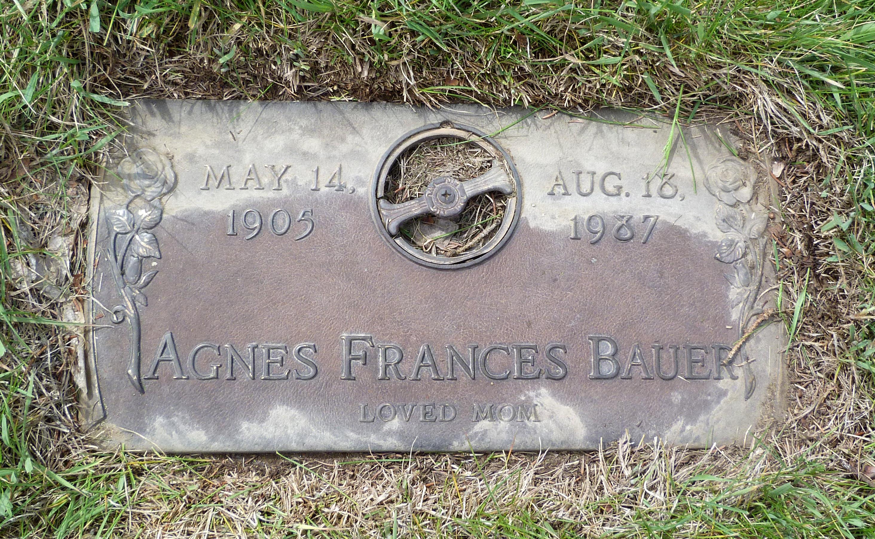 Agnes Frances <i>Nelson</i> Bauer