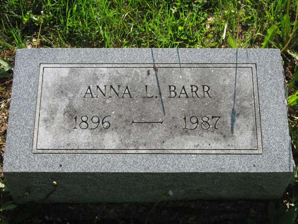 Anna L <i>Schlemmer</i> Barr
