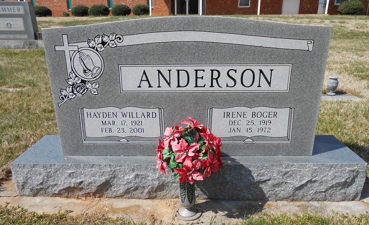 Irene <i>Boger</i> Anderson