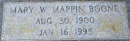 Mary Will <i>Mappen</i> Boone