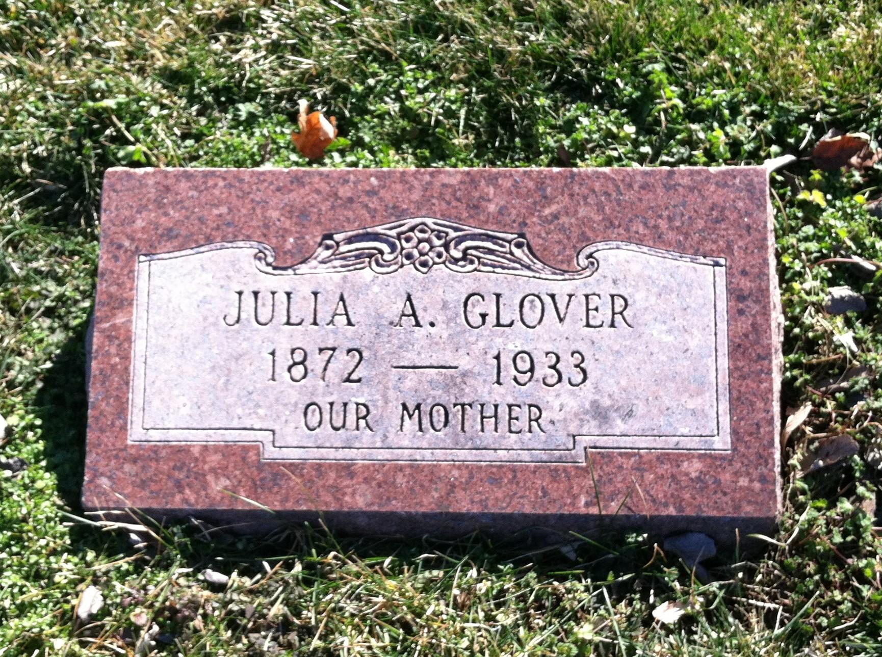 Julia A. <i>Edwards</i> Glover