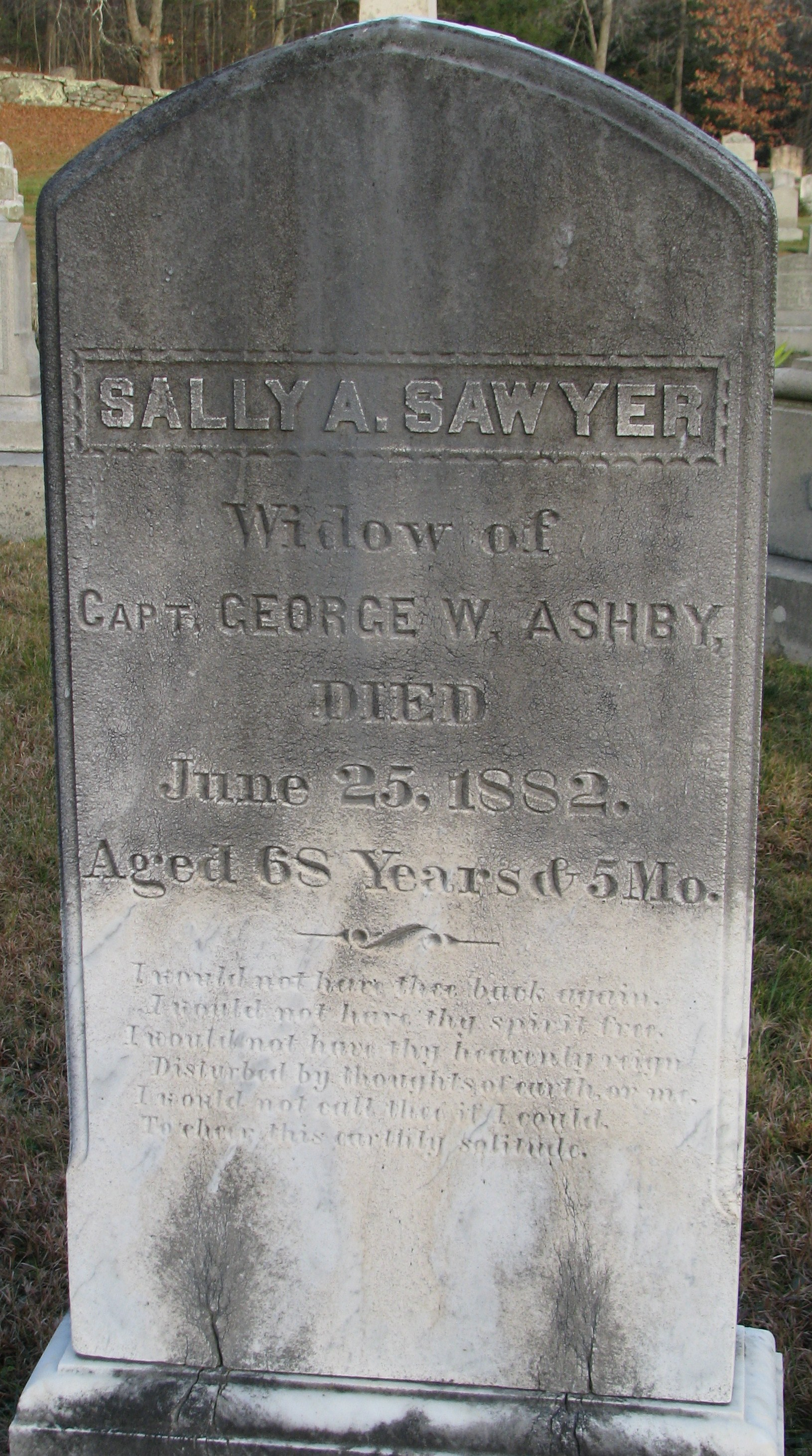Sally Ann <i>Sawyer</i> Ashby