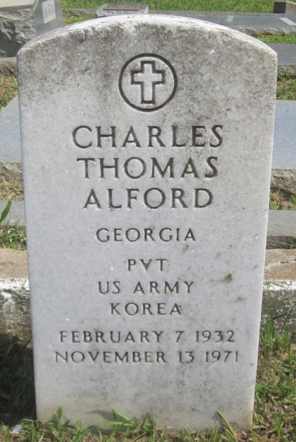 Pvt Charles Thomas Alford