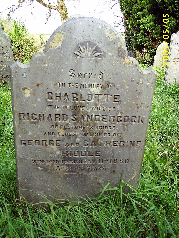Charlotte <i>Riddle</i> Sandercock
