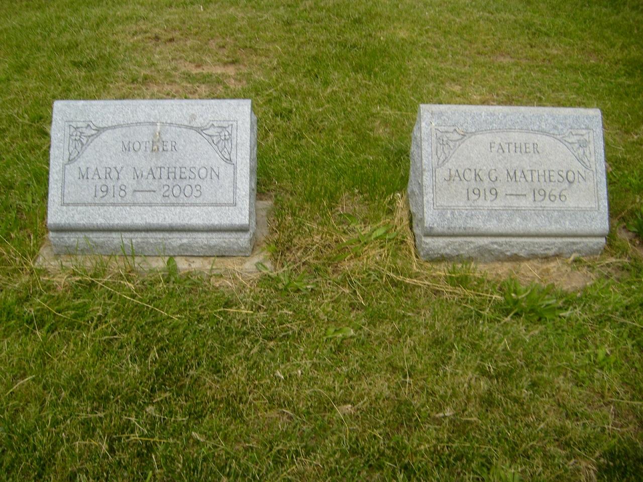 Jack G Matheson