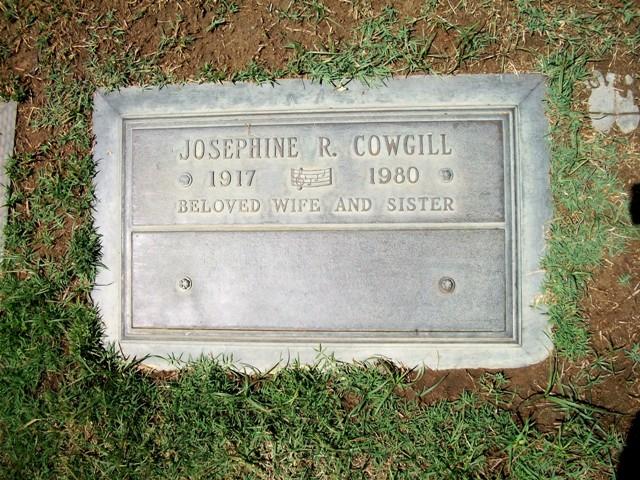 Josephine R <i>Singleton</i> Cowgill