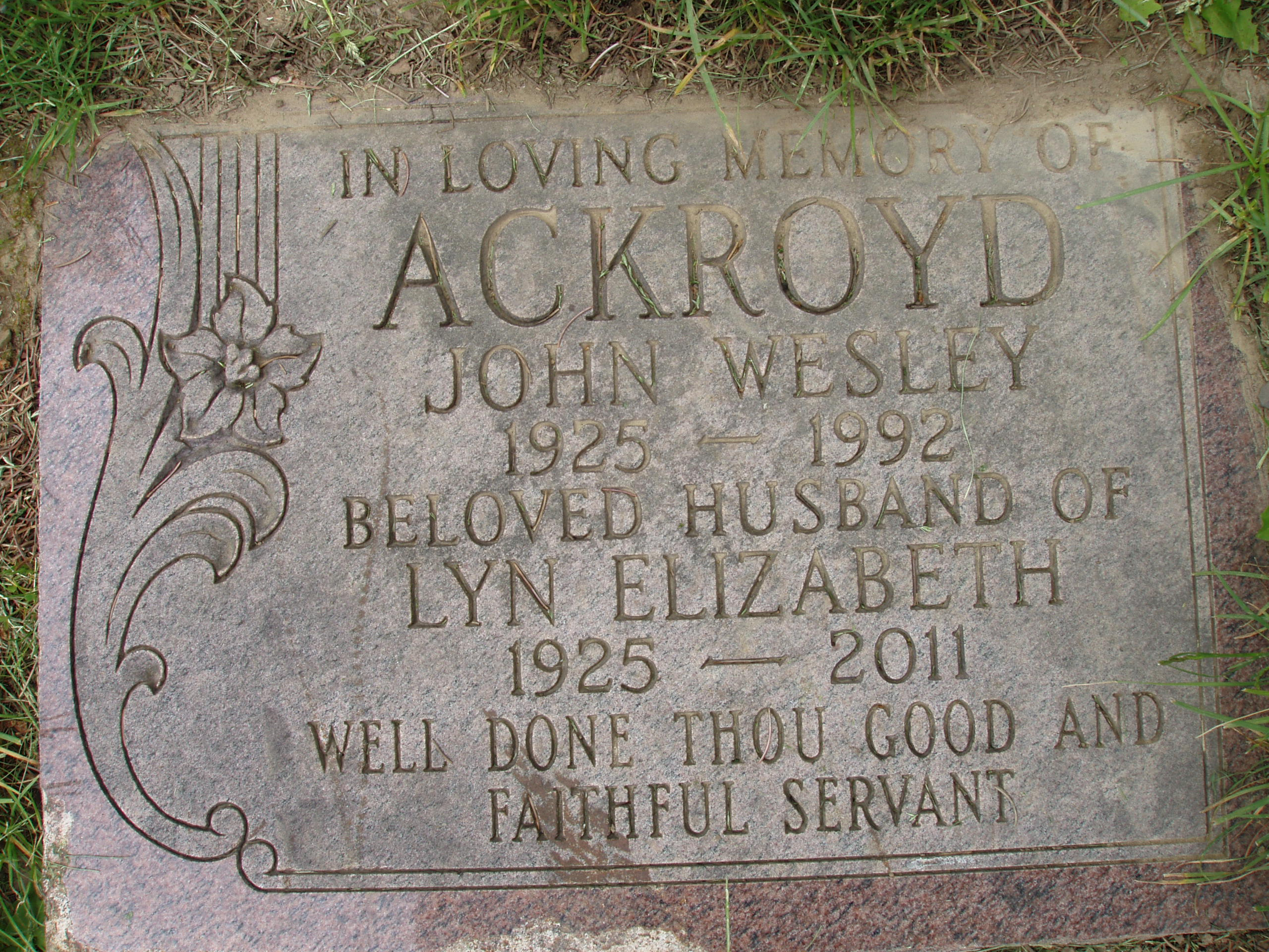 Jack Wesley Kojack Ackroyd