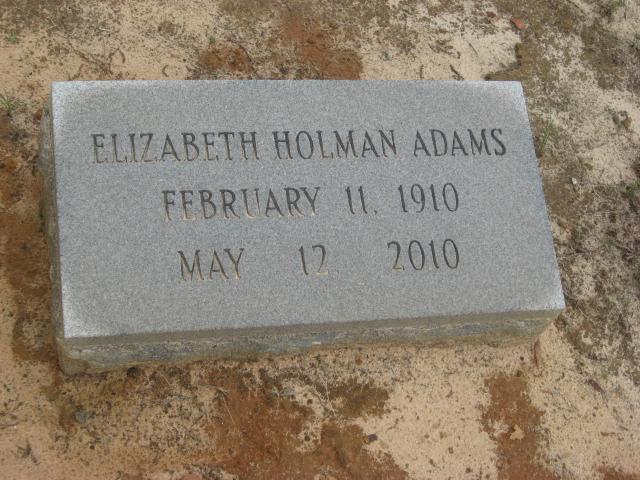 Elizabeth <i>Holman</i> Adams
