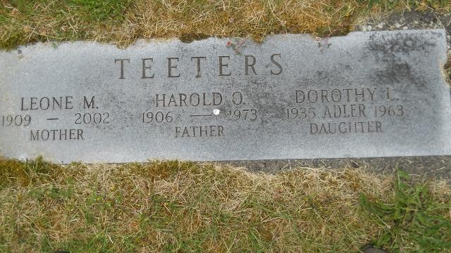 Dorothy Lee <i>Teeters</i> Adler