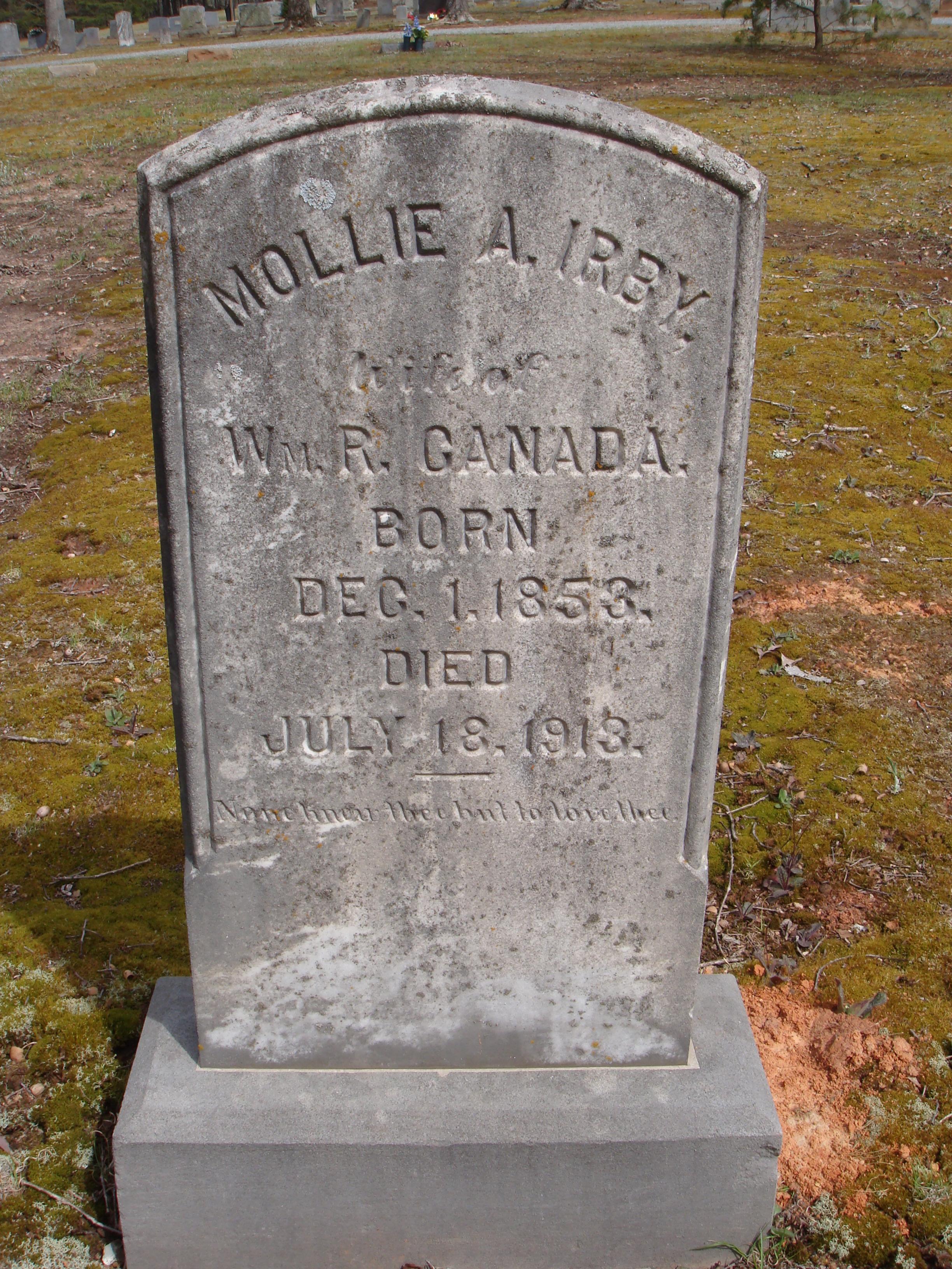 Mollie Alice <i>Irby</i> Canada