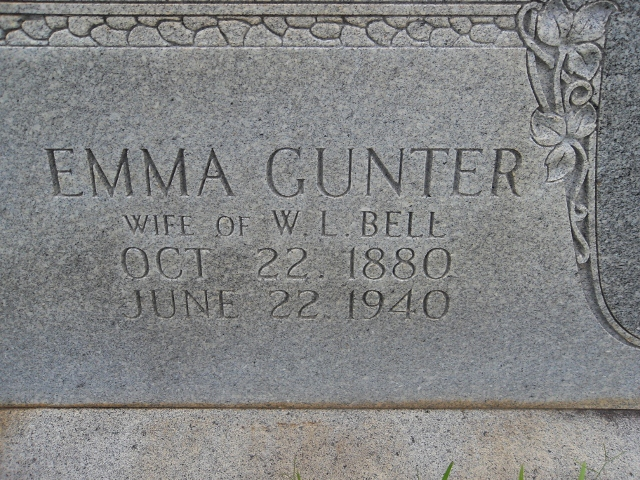 Emma <i>Gunter</i> Bell