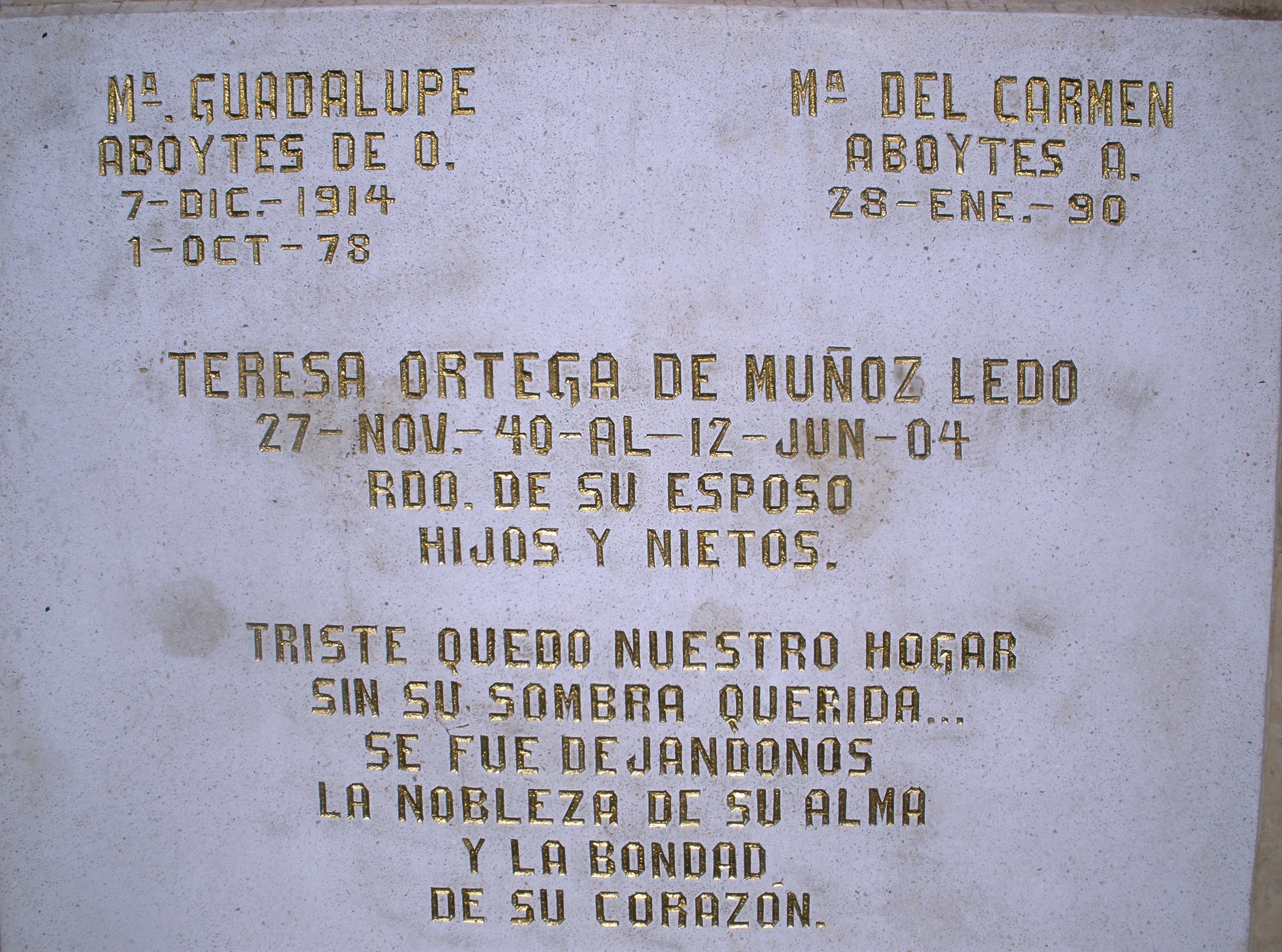 Maria Guadalupe Aboytes de O