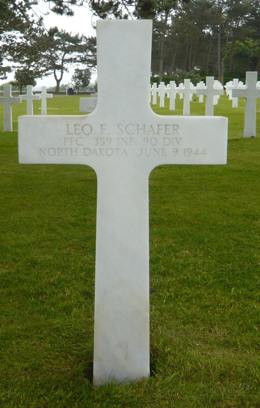 PFC Leo F Schafer