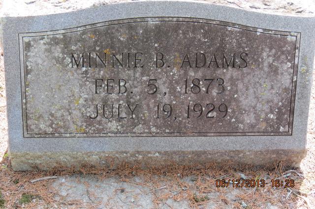 Minnie B Adams