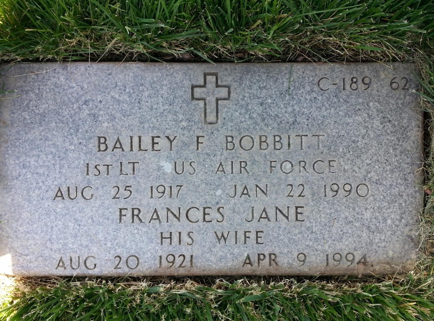 Bailey F Bobbitt