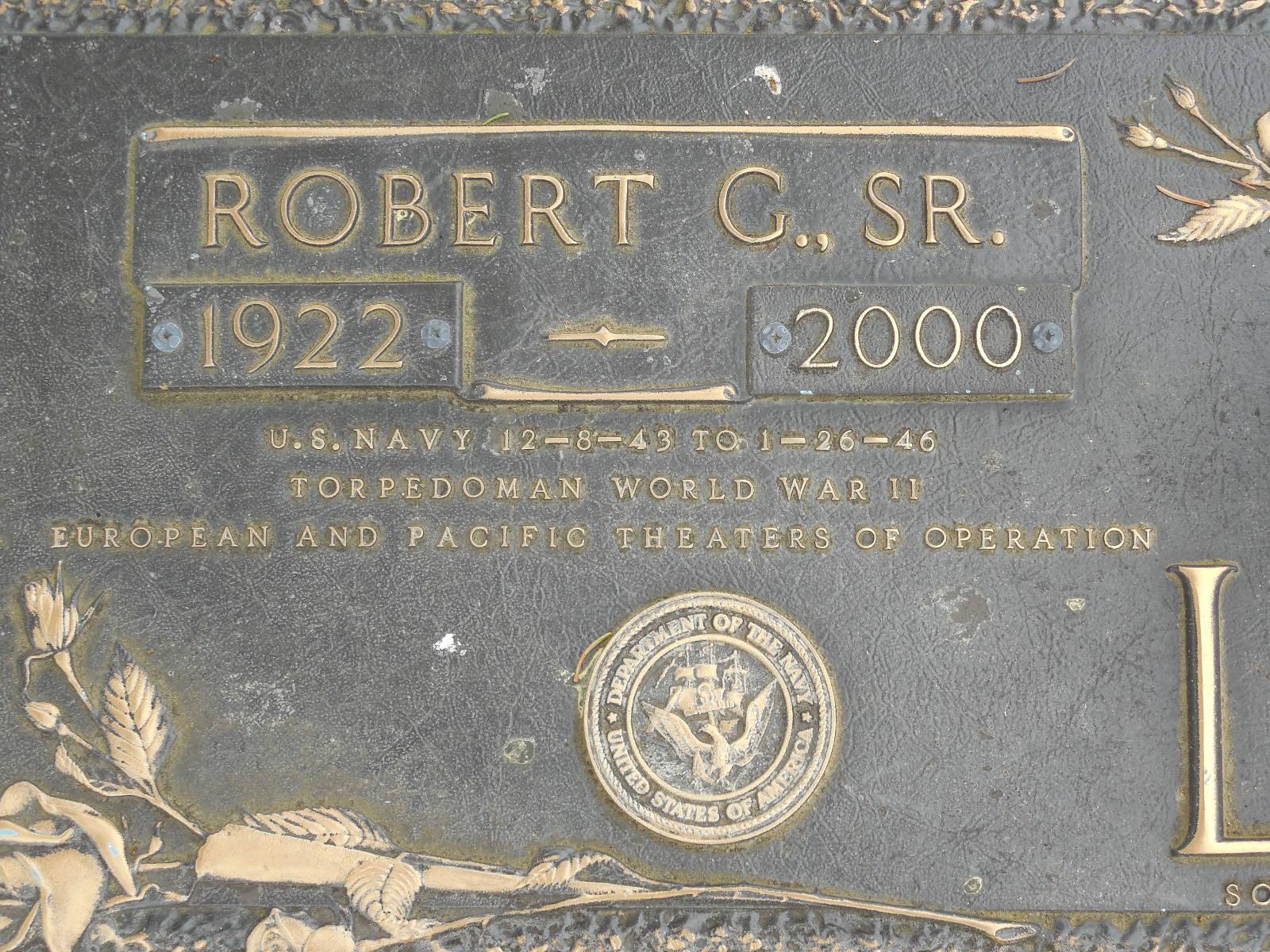 Robert G Lear, Sr