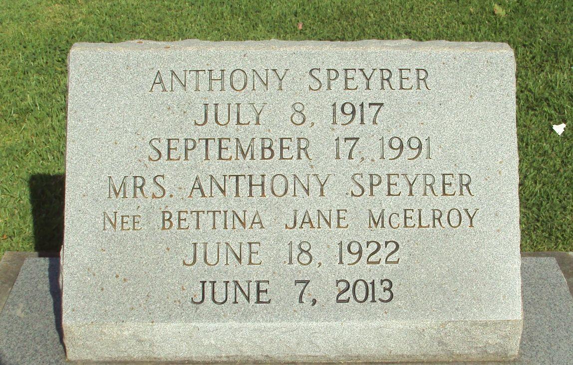 Bettina Jane Betty <i>McElroy</i> Speyrer