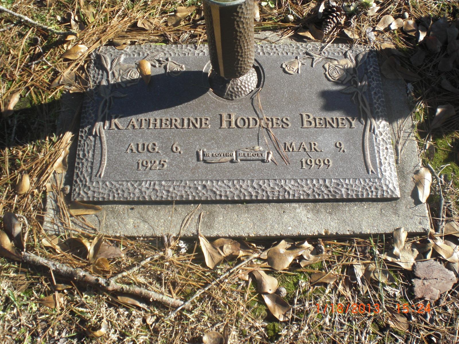 Katherine Doris Hodges <i>Sharp</i> Beney
