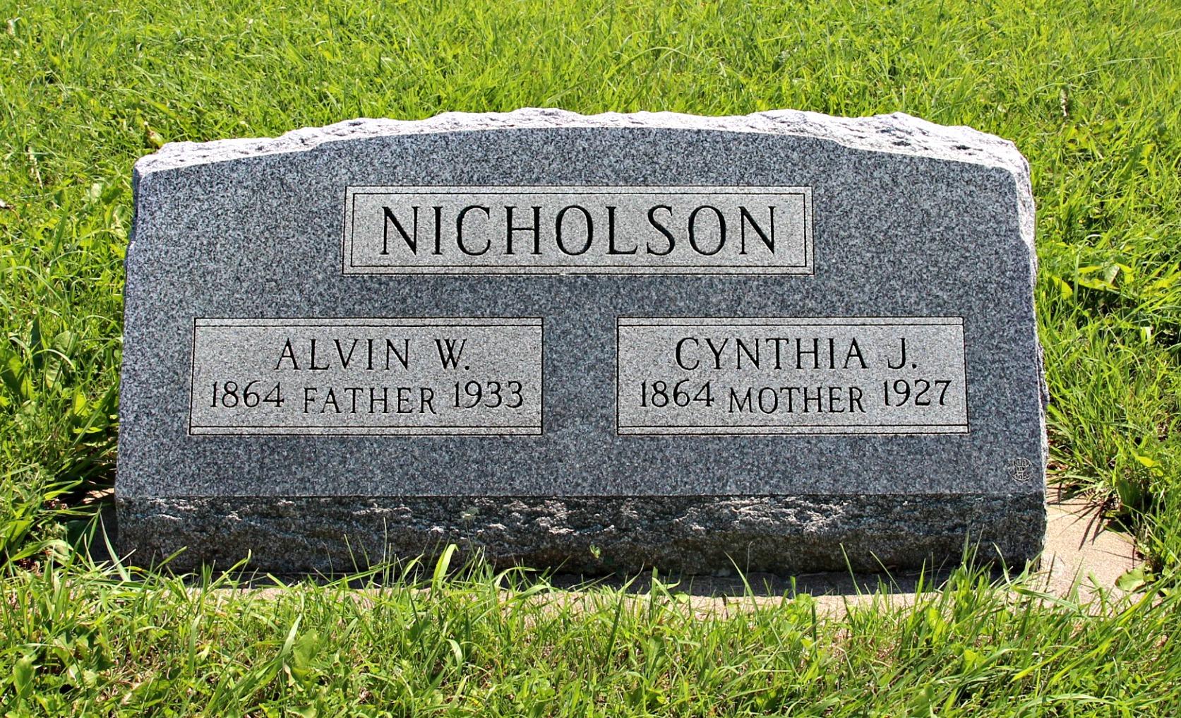 Cynthia J <i>Haldeman</i> Nicholson