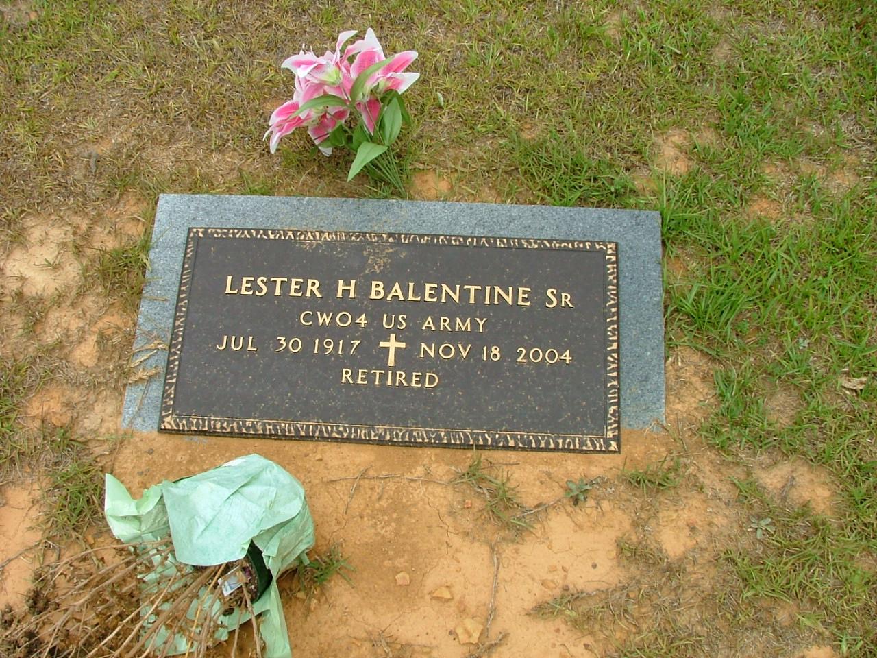 Lester Harvey Balentine, Sr
