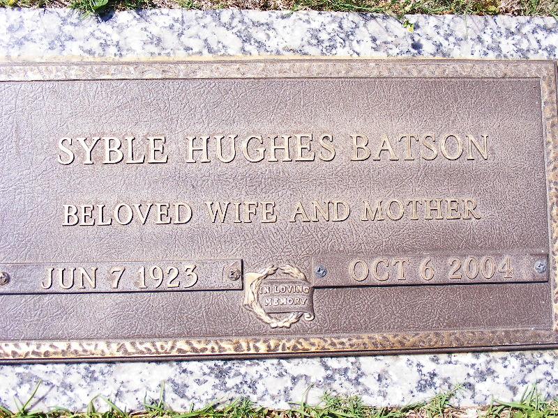 Syble <i>Hughes</i> Batson