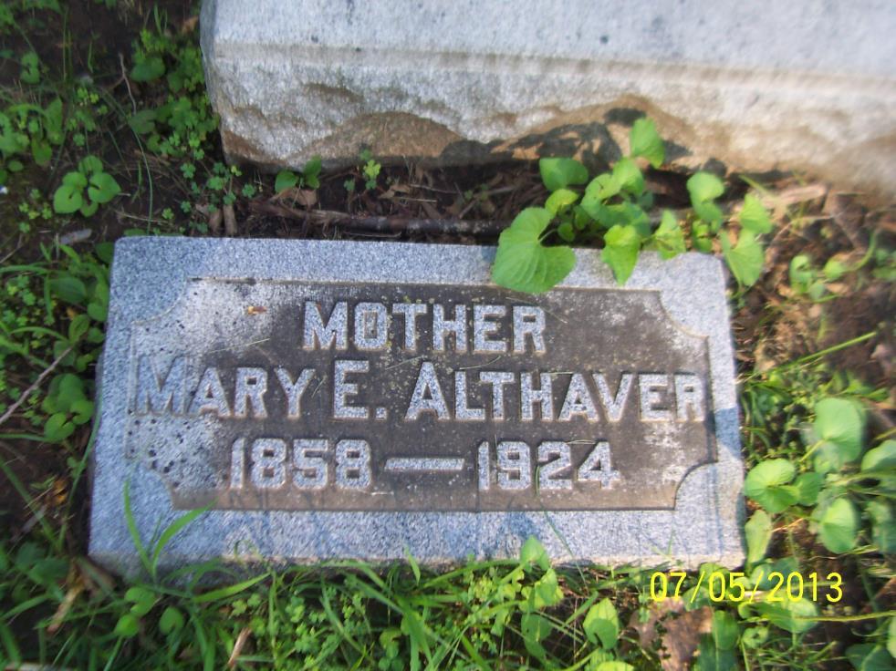 Mary <i>Burge</i> Althaver