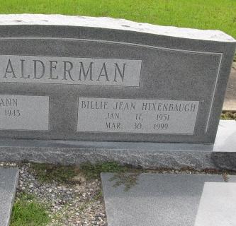 Billie Jean <i>Hixenbaugh</i> Alderman