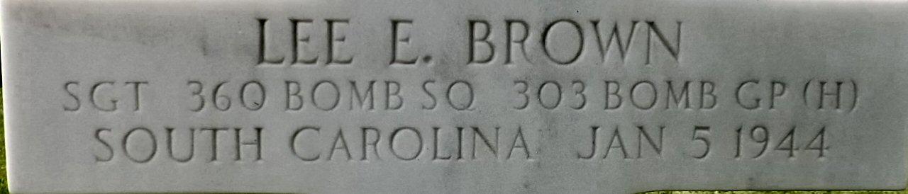 Sgt Lee E Brown