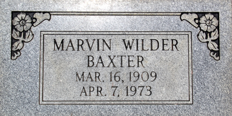 Marvin Wilder Baxter