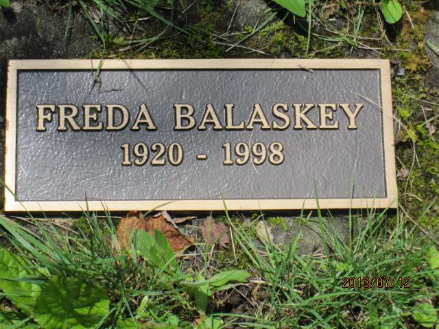 Freda <i>Cozart</i> Balaskey