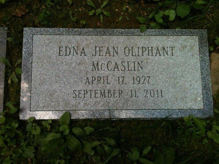 Edna Jean <i>Oliphant</i> McCaslin