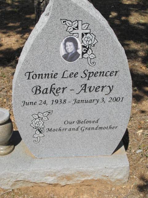 Tonnie Baker <i>Spencer</i> Avery
