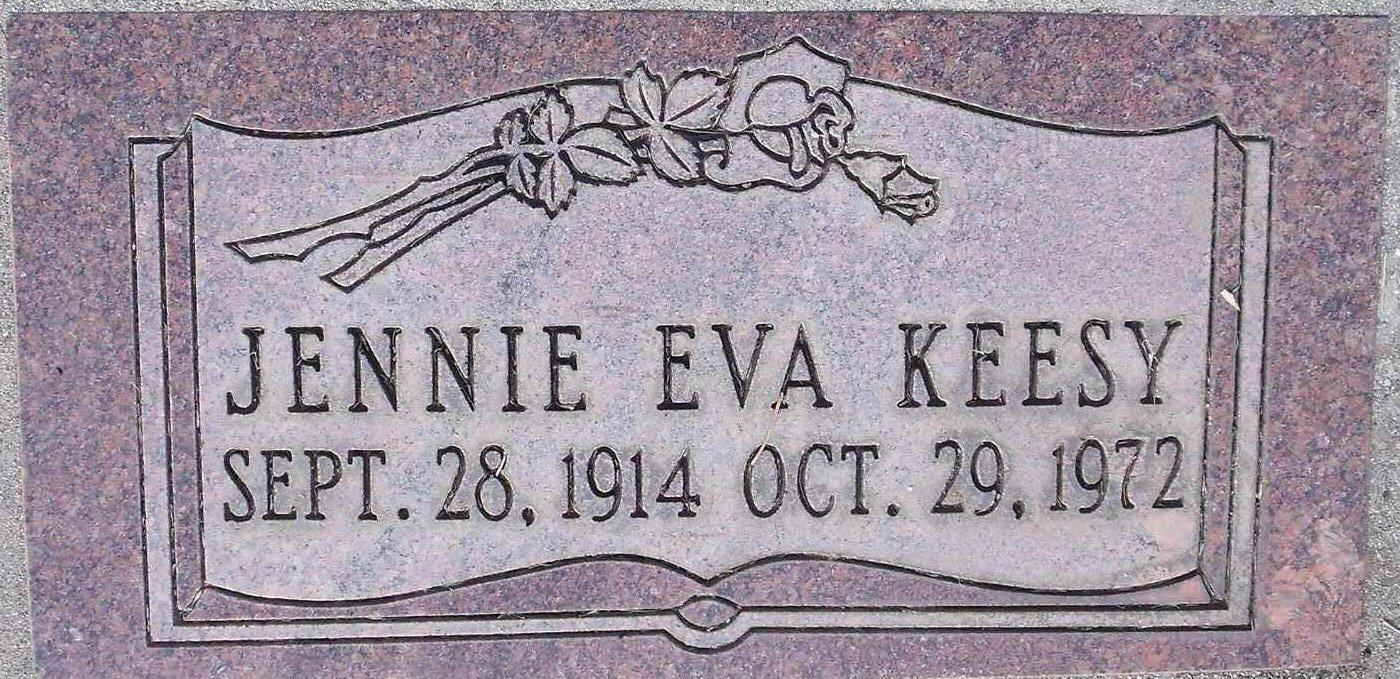 Jennie Eva <i>Hayes</i> Keesy