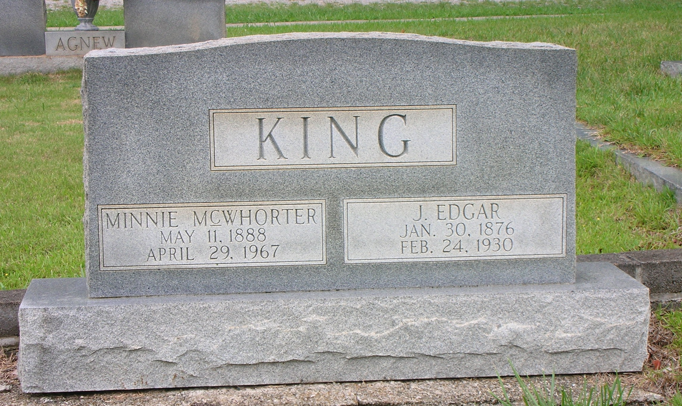 Minnie <i>McWhorter</i> King