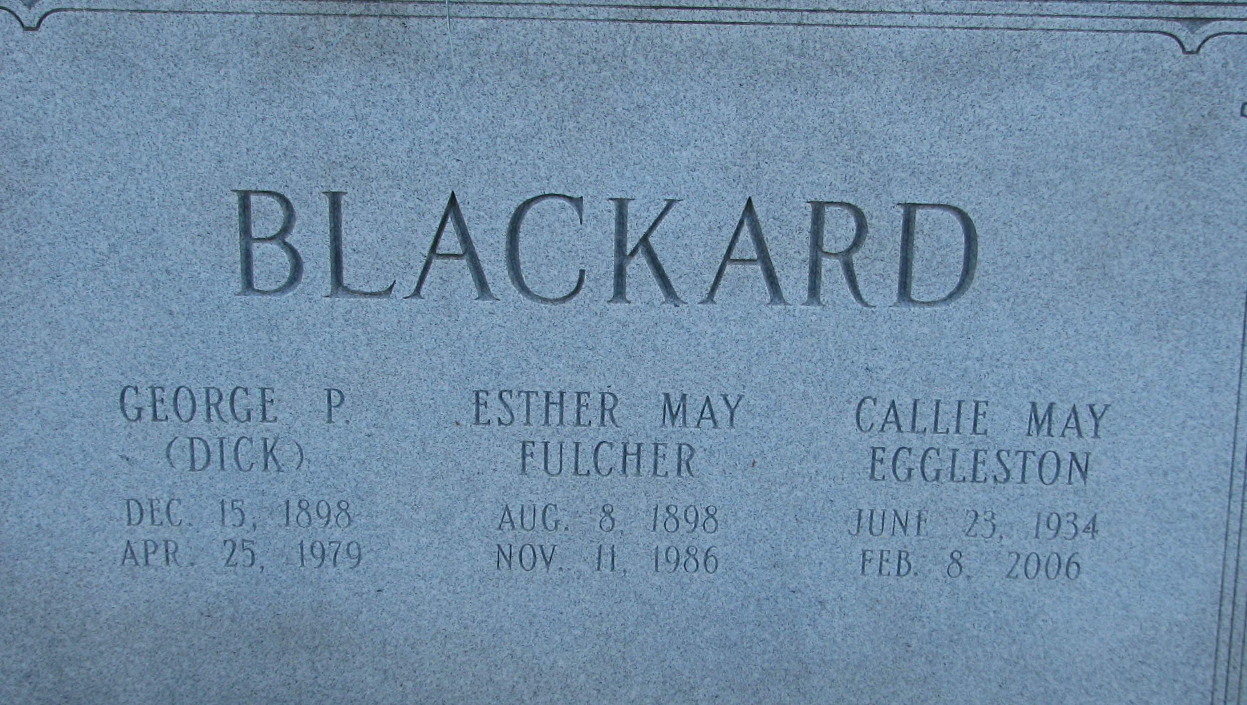 Ester Mae <i>Fulcher</i> Blackard