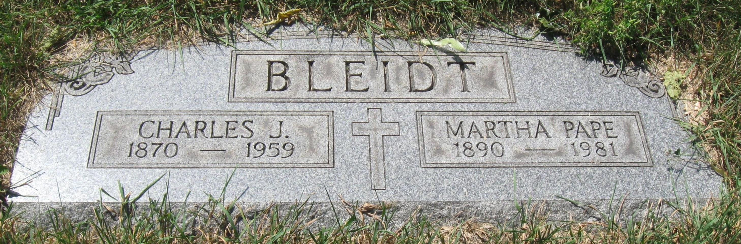 Charles J Bleidt
