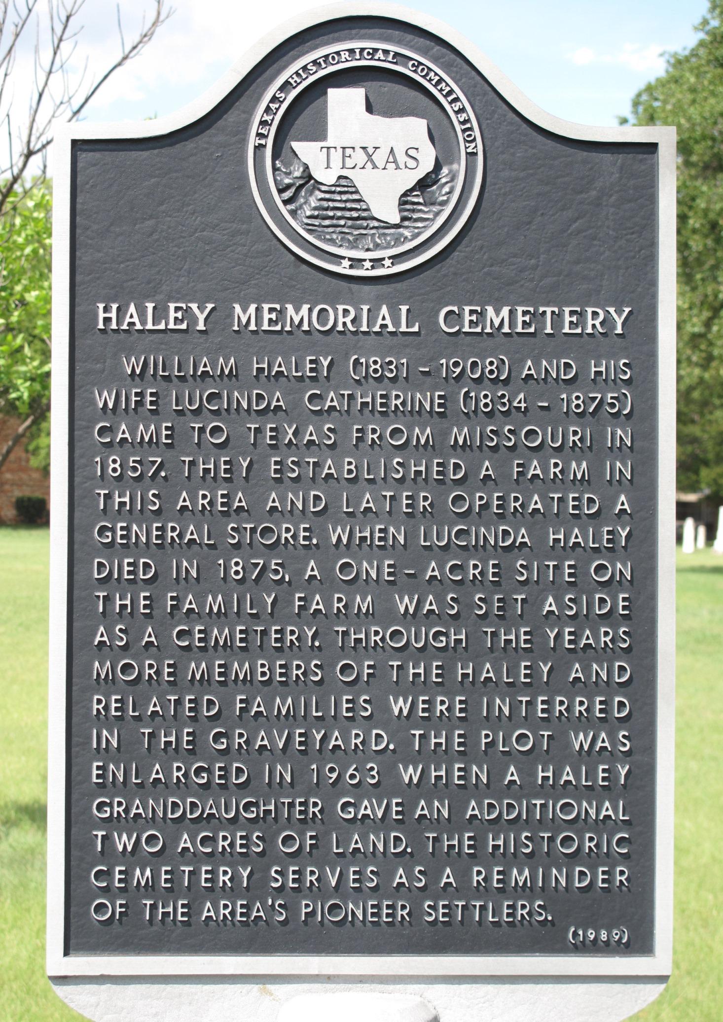 Haley Memorial Cemetery