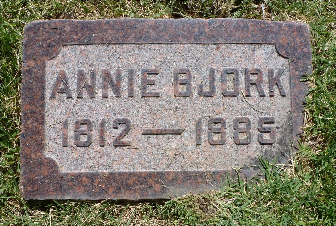 Anna Catharina Annie <i>Andersdotter</i> Bjork