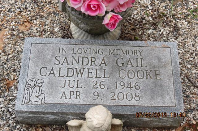 Sandra Gail <i>Caldwell</i> Cook