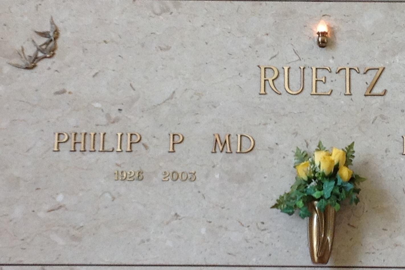 Dr Philip Peter Ruetz