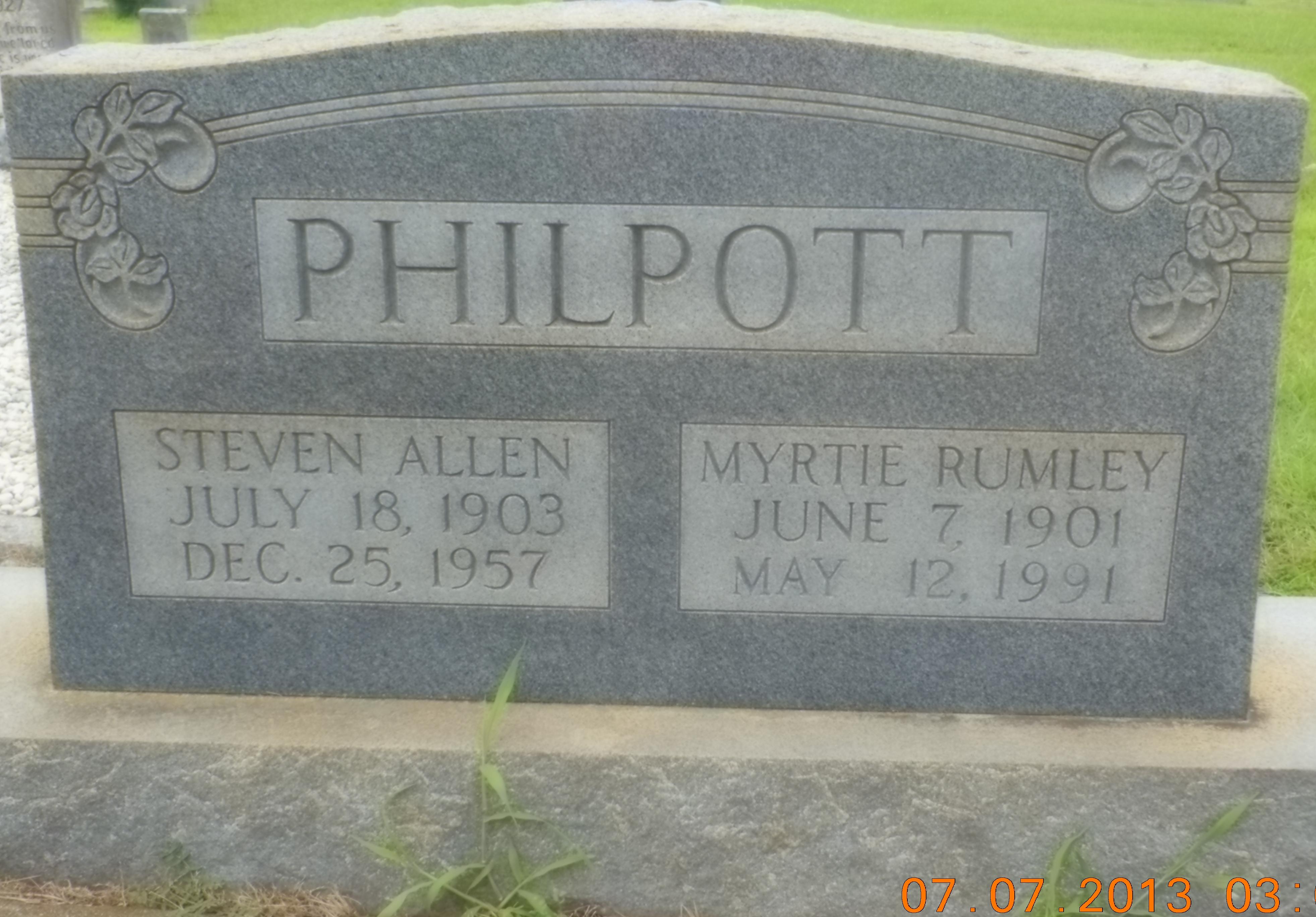 Myrtie <i>Rumley</i> Philpott