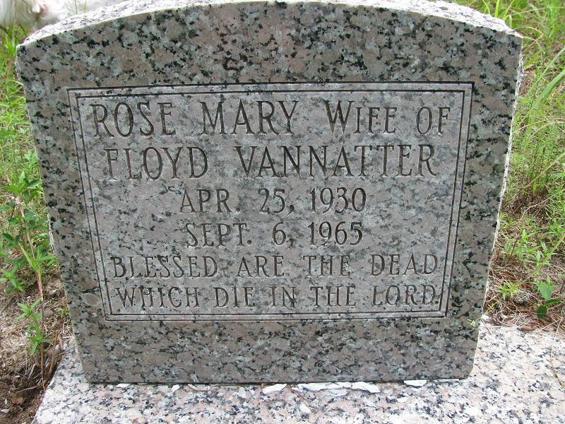 Rose Mary <i>Allen</i> Vannatter