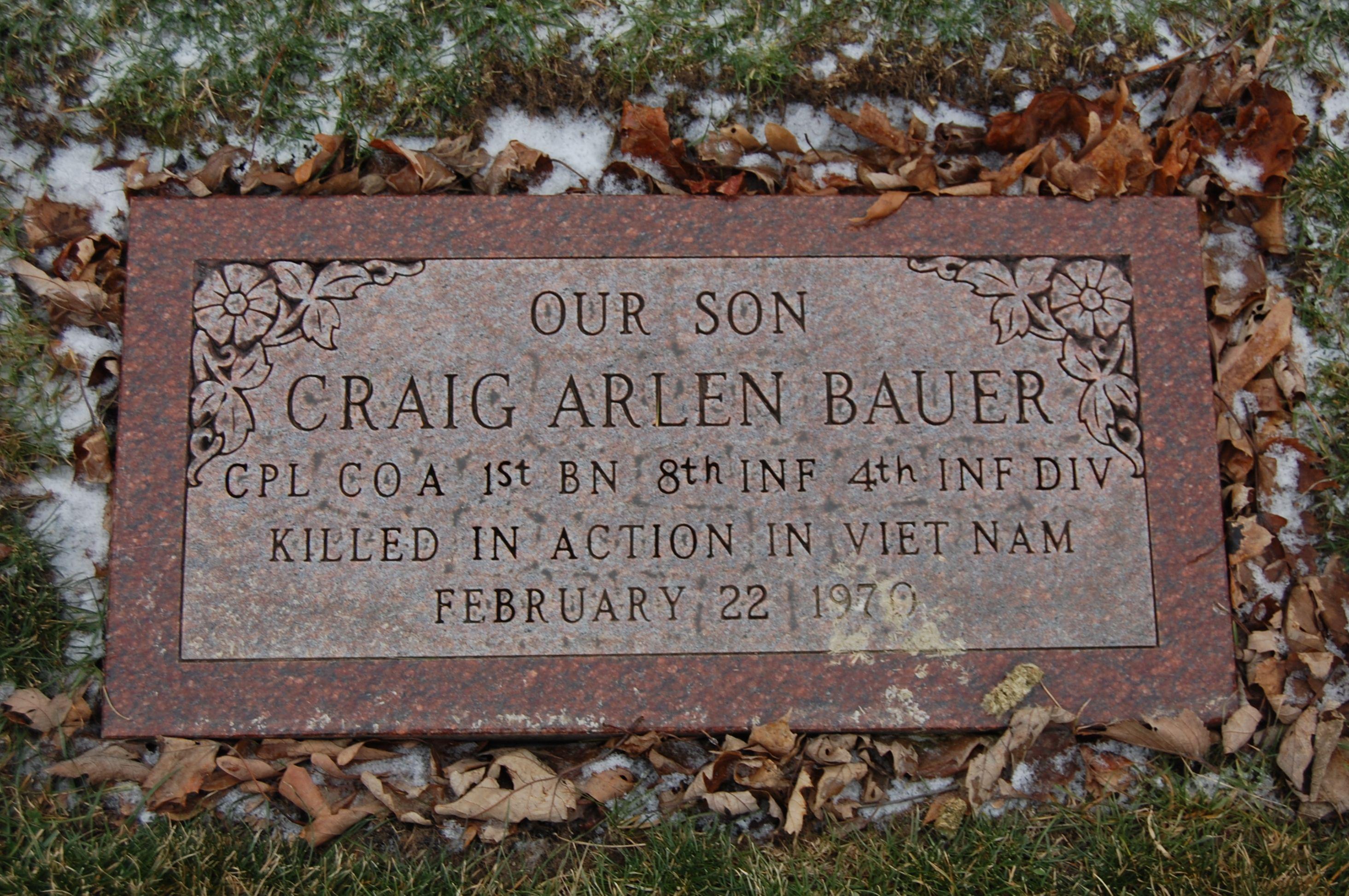 Corp Craig Arlen Bauer