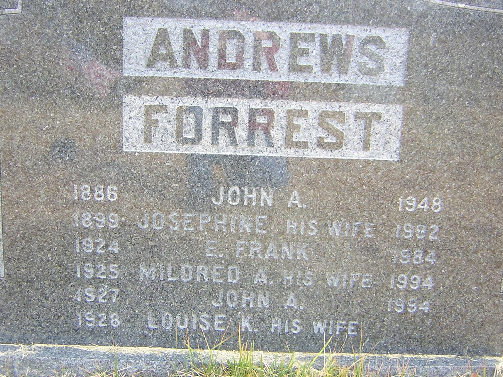 Mildred A <i>Forrest</i> Andrews